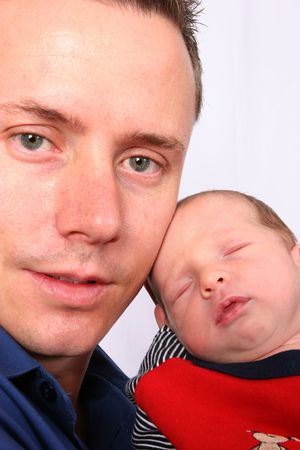 Proud father with baby Stock Photo - 404902