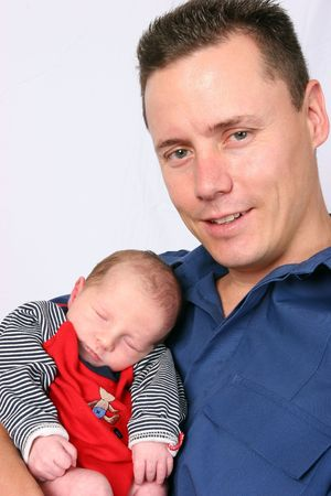 Proud father with baby Stock Photo - 404903