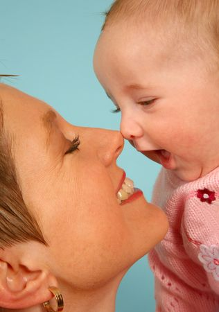 Just touching noses Stock Photo - 451616