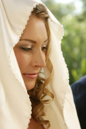 Young bride on her wedding day photo