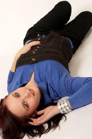 A woman lying on the floor