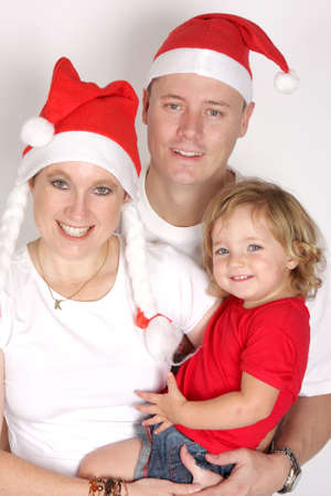 santa s elf: A family celebrating the christmas holiday