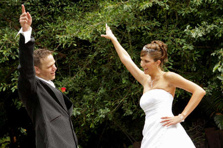 A couple dancing on their wedding day Stock Photo