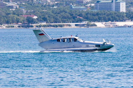 airfoil: airfoil boat Stock Photo