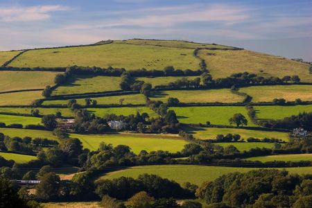 brent: A hill in South Brent, Devon, England Stock Photo