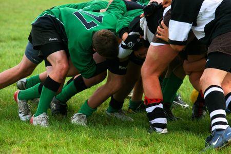 Rugby Scrum photo
