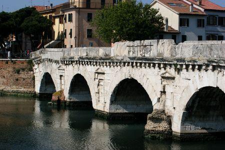 rimini: Roman Bridge in Rimini, Italy
