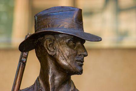 trooper: Bronze of an Australian Soldier of the First World War in ANZAC square Brisbane