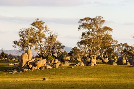 new south wales: A rocky outcrop in the Australian High Country of New South Wales