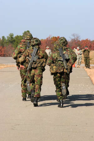 brit: Running Soldiers Stock Photo