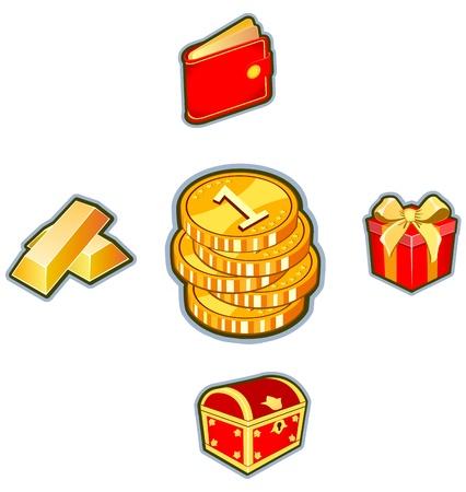 Money &amp, Finance Icon Set illustration Stock Vector - 13925806