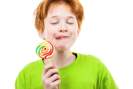 lollypop: The red positive teenager with a sugar candy