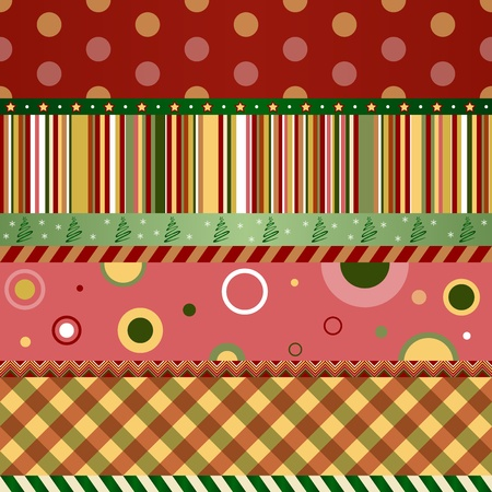 Christmas and New Year seamless pattern. Merry christmas wallpaper.  Vector