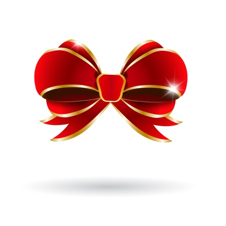 Red bow on a white background  Vector illustration Stock Vector - 16220176