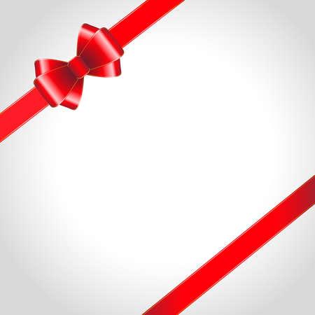 raso: Arco del nastro rosso su sfondo illustrazione shined