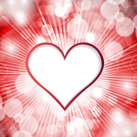 Heart on shined background illustration Stock Vector - 16654567