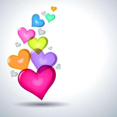 Heart symbols Valentine day.