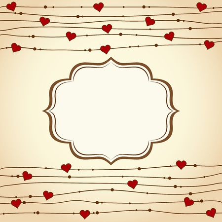 Valentine's day background. Vector illustration Stock Vector - 16876921