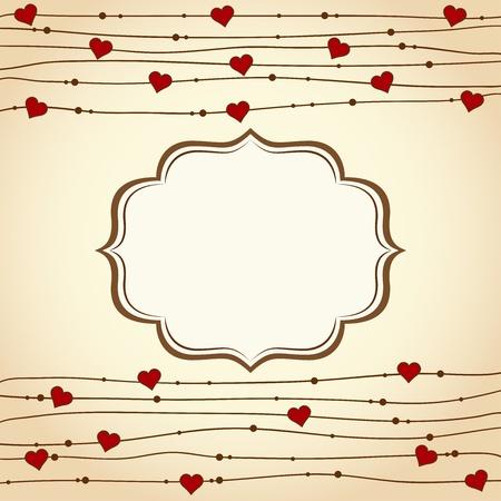 Valentine's day background. Vector illustration Stock Vector - 16876921