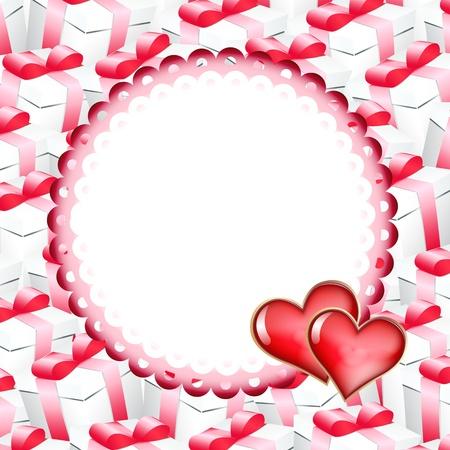 message box: Valentines day background. Vector illustration