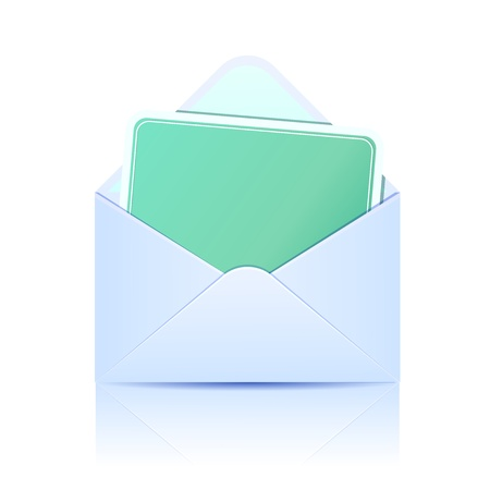 envelope: Envelope with paper card. Concept of email  Illustration