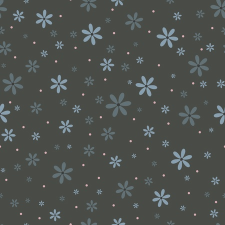 Seamless pattern with beautiful gray flowers Stock Vector - 17310069