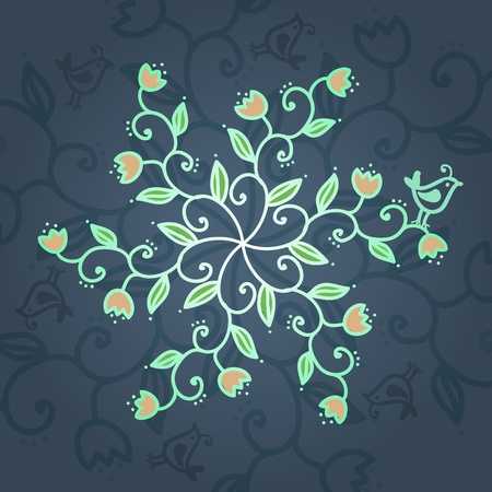 Floral blue background. Vector illustration Stock Vector - 17569554