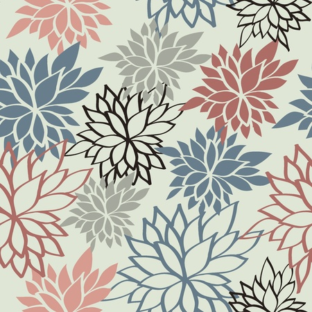 Floral seamless background. Vector illustration Stock Vector - 17569551