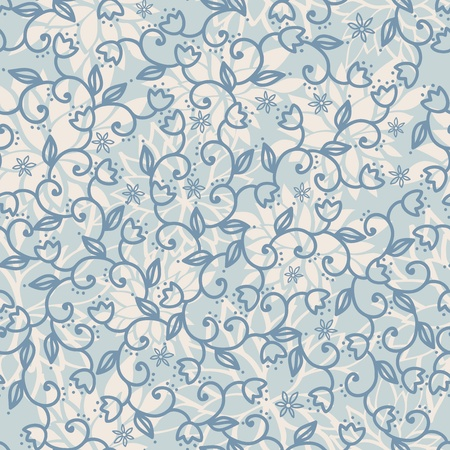 Floral blue seamless background. Vector illustration Stock Vector - 17849116