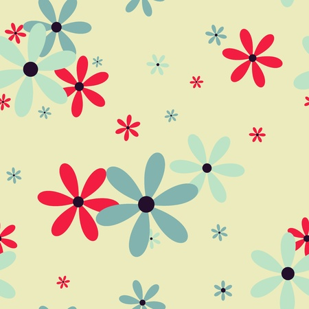 simple flower: Seamless pattern with beautiful   flowers