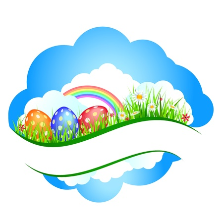 Easter banners with colorful Easter eggs Stock Vector - 18086710