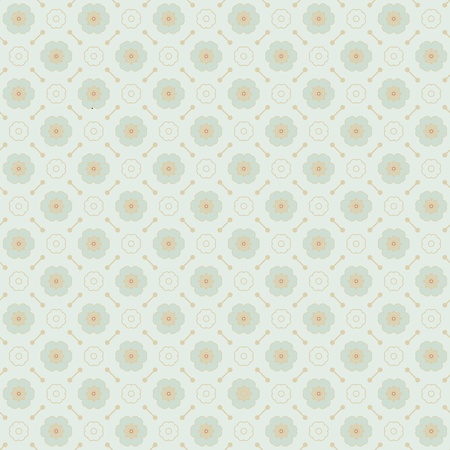 Seamless geometric pattern made with monochrome elements, vector background Vector