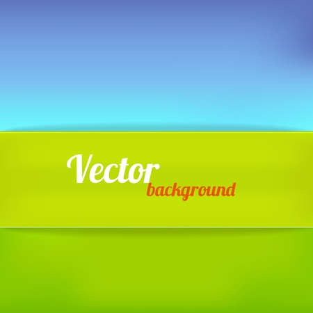 Bright background in green and blue color. Vector illustration Stock Vector - 18386750