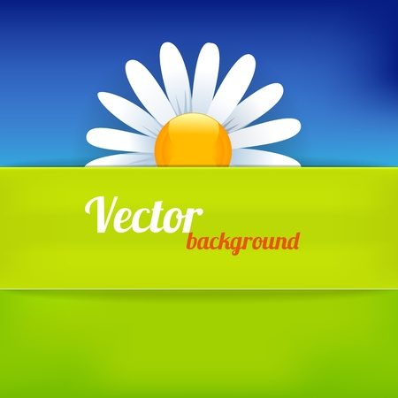clean air: Bright background in green and blue color. Vector illustration Illustration