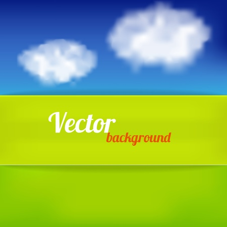 Bright background in green and blue color. Vector illustration Stock Vector - 18386749