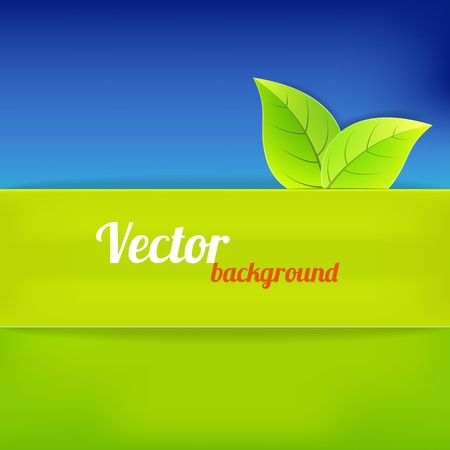 Bright background in green and blue color. Vector illustration Vector