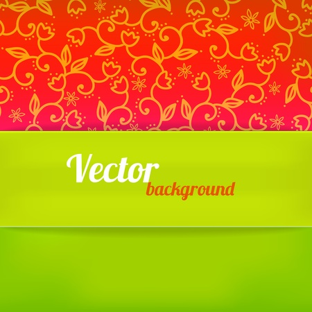 Bright background in green and red color illustration Vector