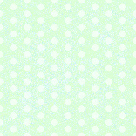 Green Polka Dot Fabric Background that is seamless and repeats. Vector illustration Vector