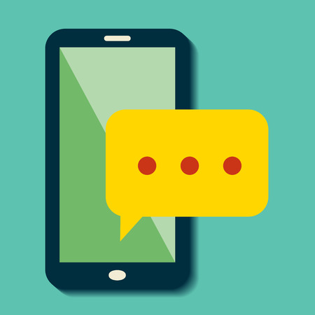 tweet balloon: flat smartphone chat icon