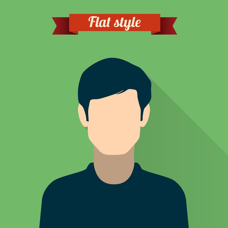 gender identity: Vector illustration of people icon in modern style