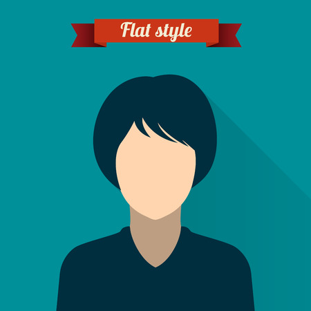 Vector illustration of people icon in modern style Vector
