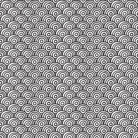 circulos concentricos: Círculos patrón sin costuras. Ilustración vectorial
