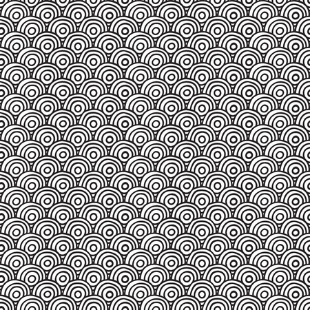 concentric: Seamless circles pattern. Vector illustration