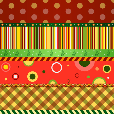 Christmas and New Year seamless pattern. Merry christmas wallpaper. Vector illustration Vector
