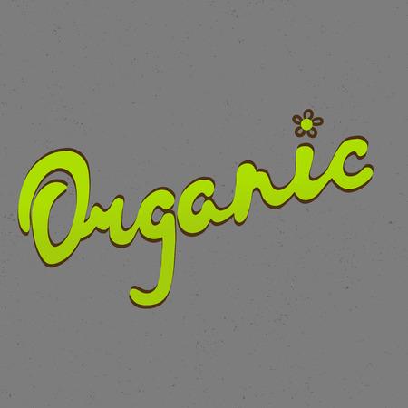 typography signature: Letras Mano org�nica hecha a mano vector de la caligraf�a. Org�nica, bio, plantilla de dise�o natural. Dibujado a mano elementos de dise�o. Vector de la vendimia.