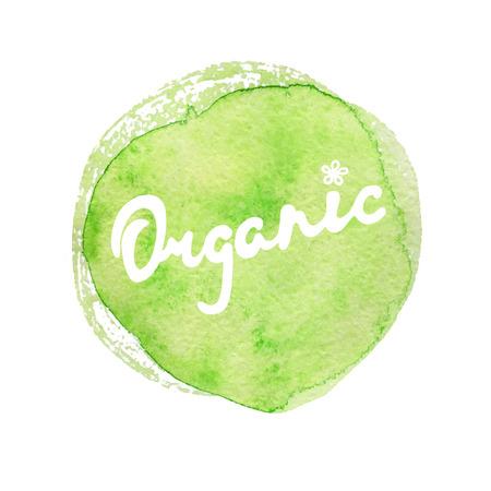 Organic Hand lettering handmade vector calligraphy. Organic, bio, natural design template. Hand drawn design elements.