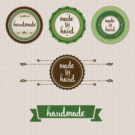 guaranty: Handmade. Original custom hand lettering. Handmade calligraphy, vector. Illustration for logo, brochure and other printing projects. Illustration
