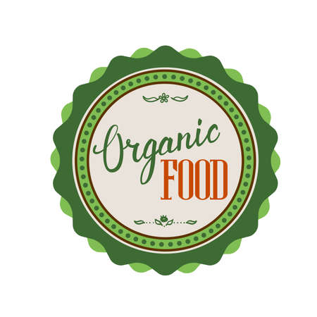 textual: Organic Food Hand lettering handmade