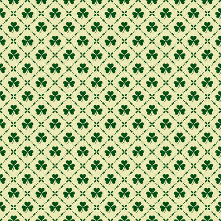 clover background: Green clover background for St. Patricks Day. Seamless pattern.  Illustration for St. Patricks day  posters, greeting cards, print and web projects. Illustration