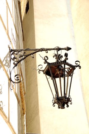 Lamp on the wall photo